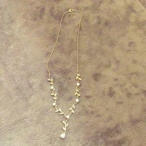 Jewelry - Cubic zirconia silver tone necklace